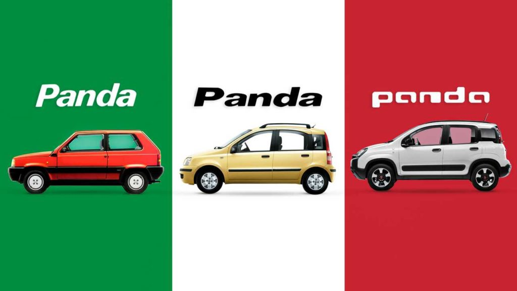 Panda 40 anni di evoluzione