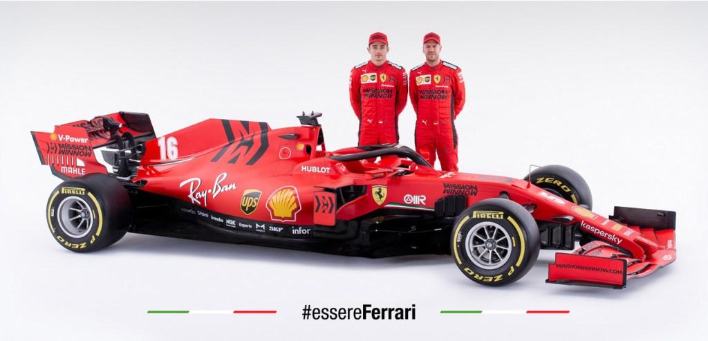 i piloti con la Ferrari SF1000
