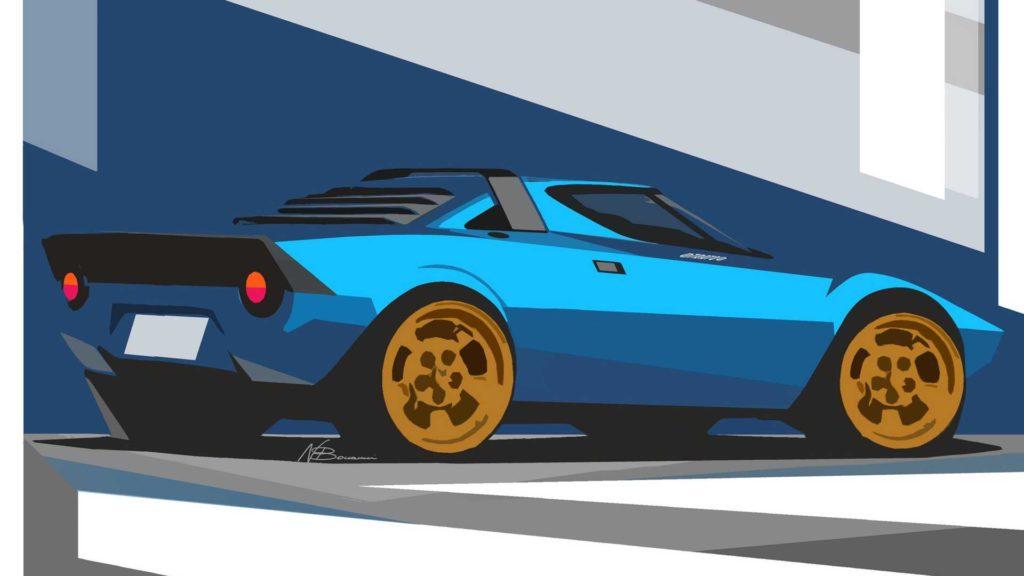 Bozzetto Lancia Stratos