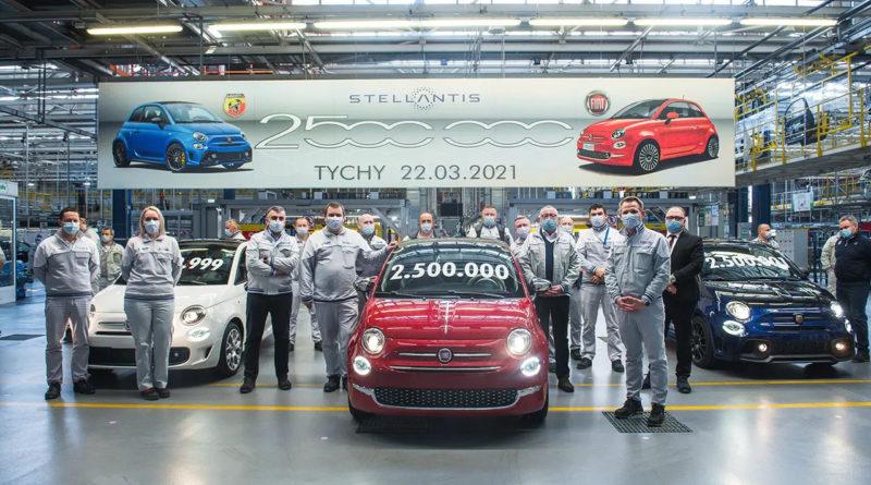 Fiat 500 2,5 milioni prodotte